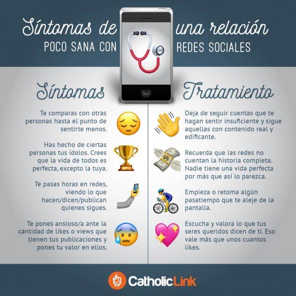 Infografía: Síntomas de una relación poco sana con tus redes