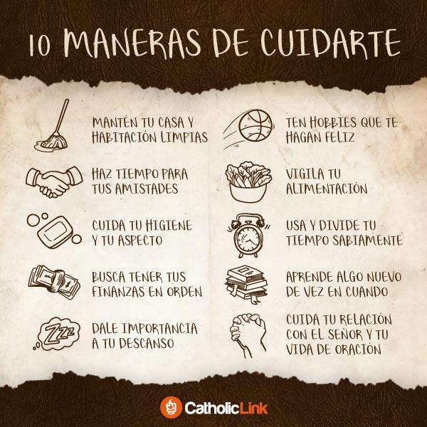 Infografía: 10 maneras de cuidarte