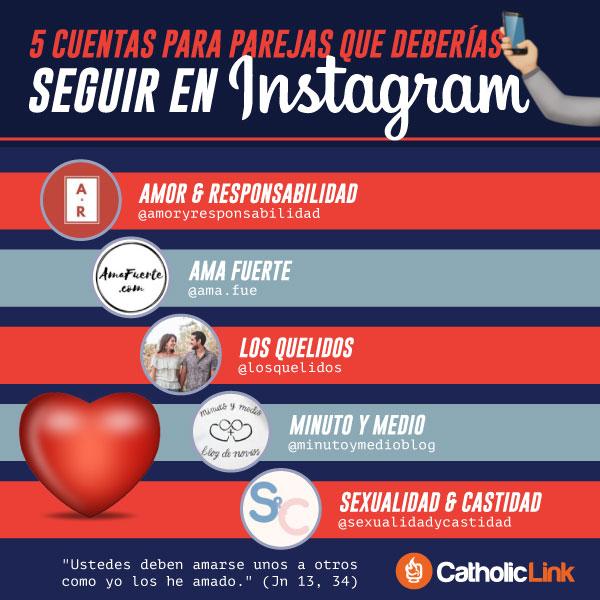 Infografía: 5 cuentas para parejas en Instagram