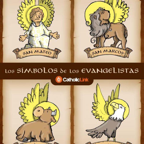 Infografía: Los símbolos de los 4 evangelistas