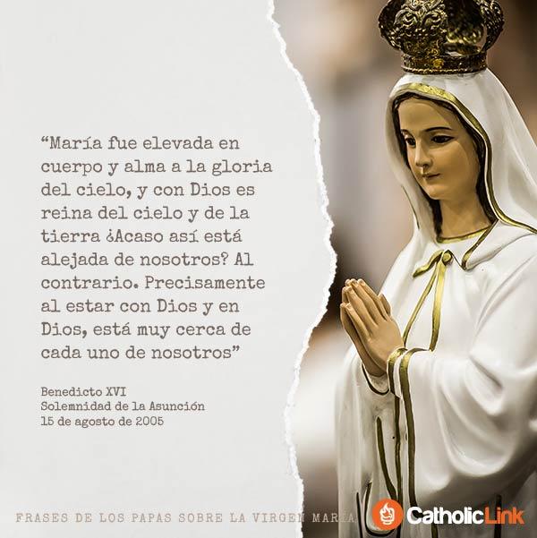 Galería Frases De Los Papas Sobre La Virgen María