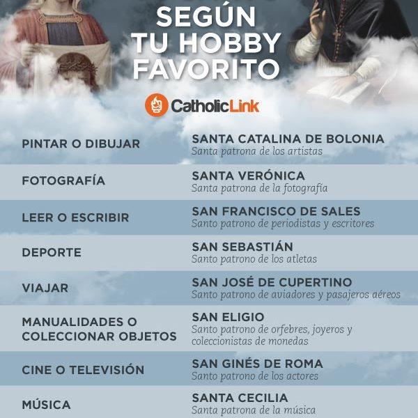 Infografía: Tu santo según tu hobby favorito