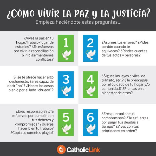 Infografía: ¿Cómo vivir la paz y la justicia?