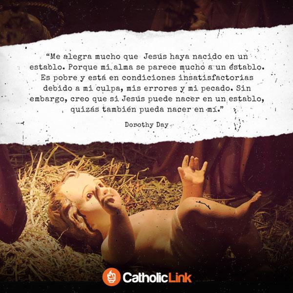 Me alegra que Jesús haya nacido en un establo