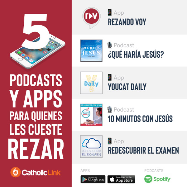 Infografía: Podcasts y apps para rezar