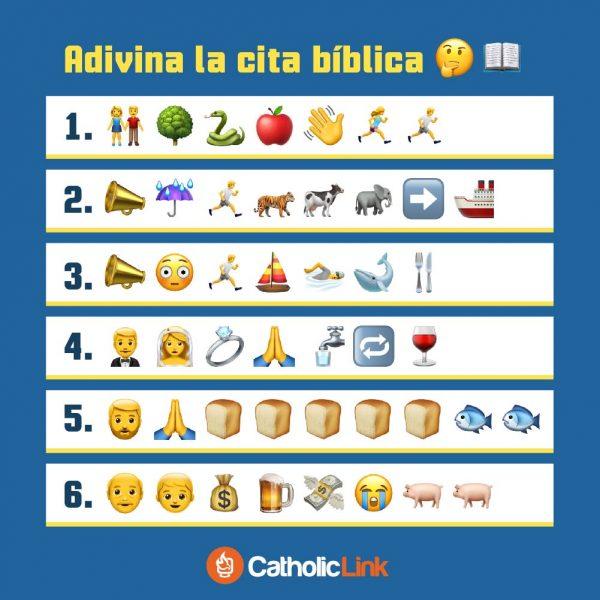 Adivina las citas bíblicas según los emojis