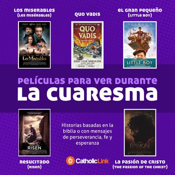 Infografía: Películas para ver durante Cuaresma