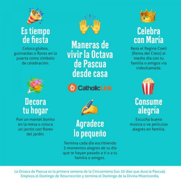 Infografía: Vivir la Octava de Pascua desde casa