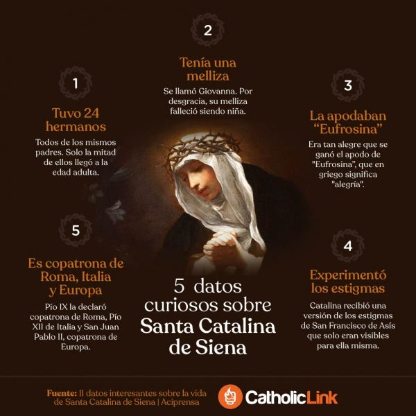 Infografía: 5 datos curiosos sobre Santa Catalina de Siena