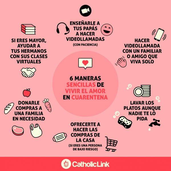 Infografía: 6 maneras de vivir el amor en cuarentena