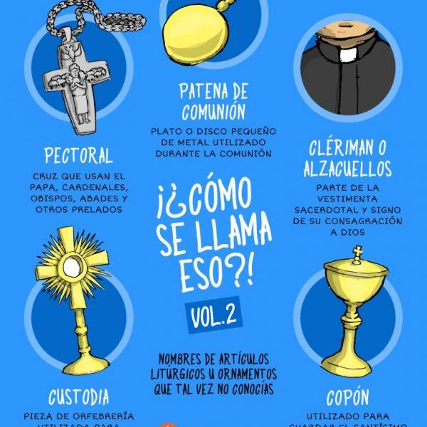 Infografía: ¿Cómo se llama eso? Artículos litúrgicos Vol.2