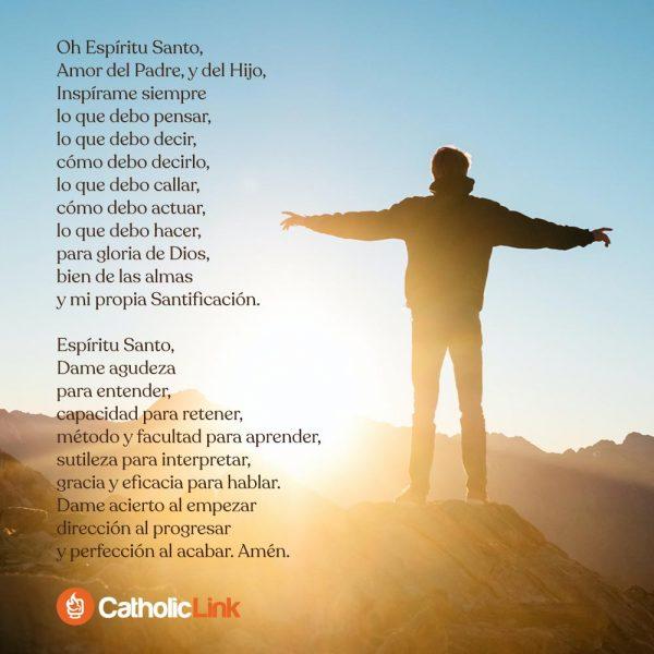 Oración al Espíritu Santo para empezar el día