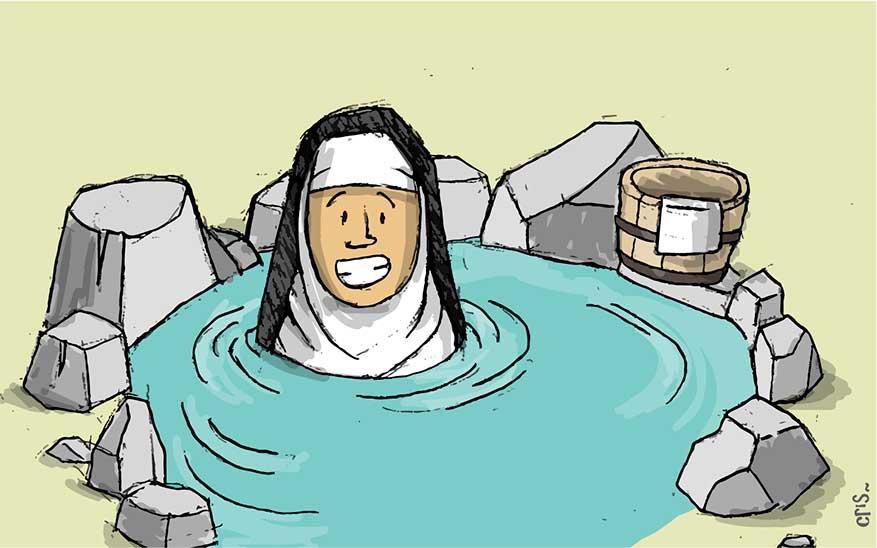 Santa Hildegarda, 6 consejos de santa Hildegarda para mantener la salud o recuperarla (incluyen visitar el sauna)