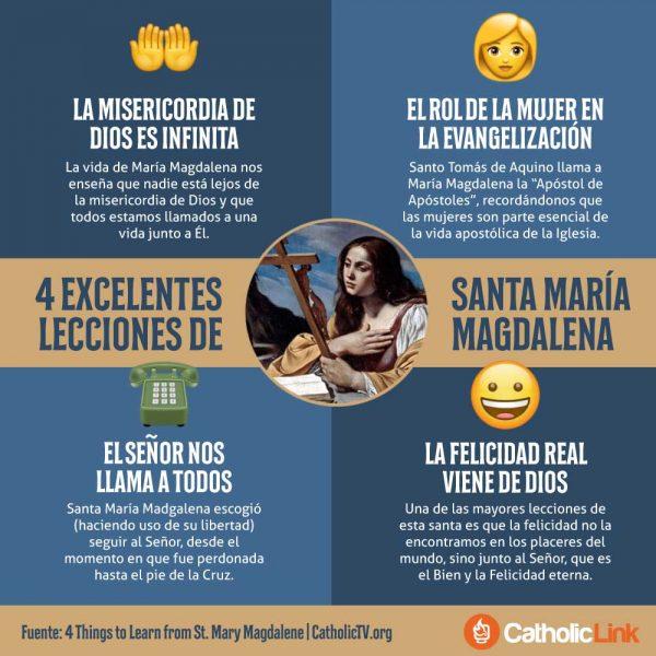 Infografía: 4 lecciones de Santa María Magdalena