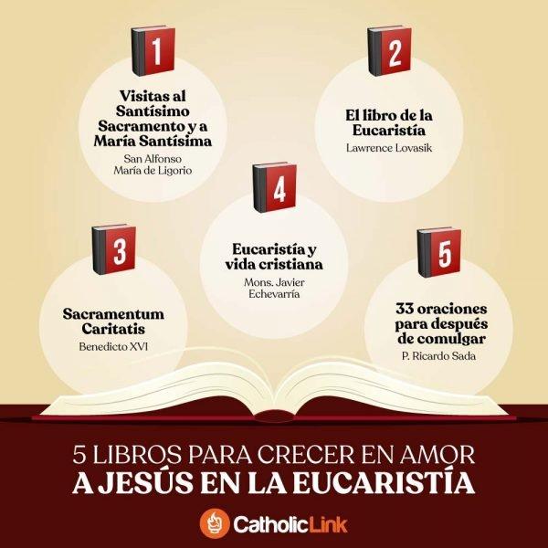 Infografía: 5 libros para crecer en amor a la Eucaristía