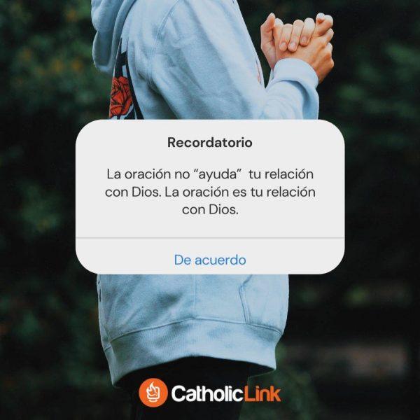 """La oración no """"ayuda"""" a tu relación con Dios"""