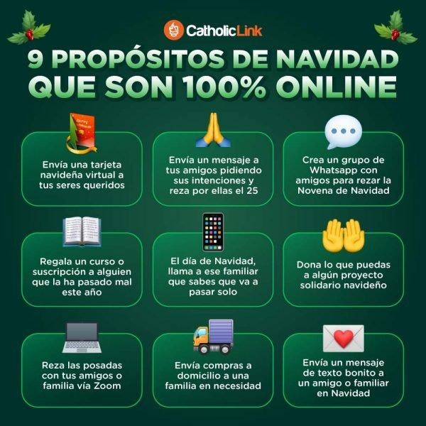 Infografía: 9 propósitos de Navidad 100% online