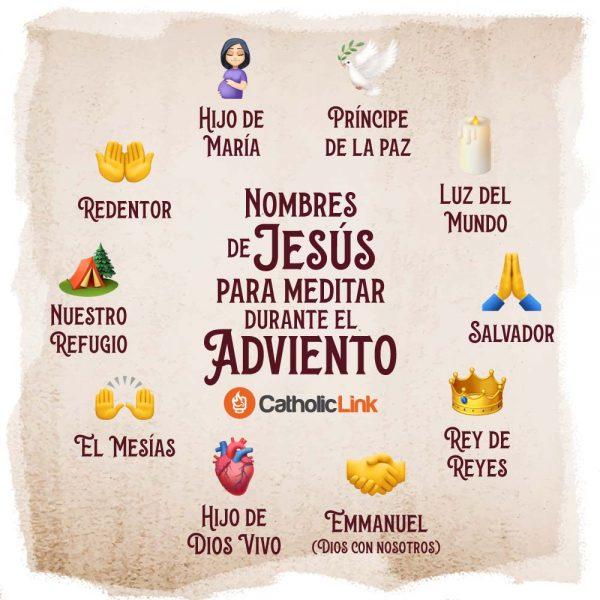 Infografía: Nombres de Jesús para el Adviento