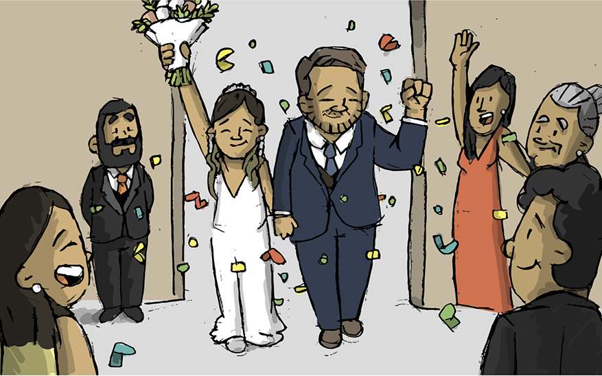 Boda en pandemia: así es casarse en tiempos difíciles