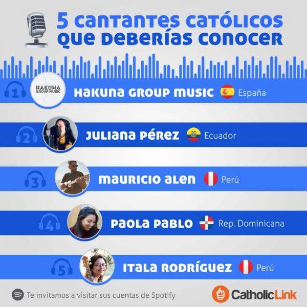 Infografía: 5 cantantes católicos que deberías conocer