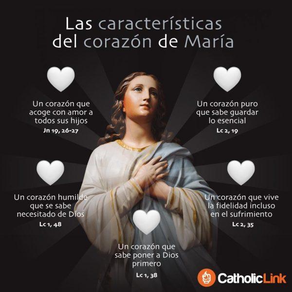 Infografía: Características del Corazón de María