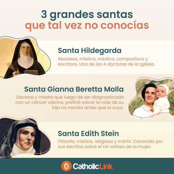 Infografía: 3 grandes santas que tal vez no conocías