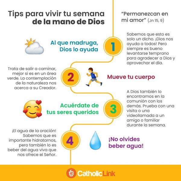 Infografía: Tips para vivir la semana con Dios