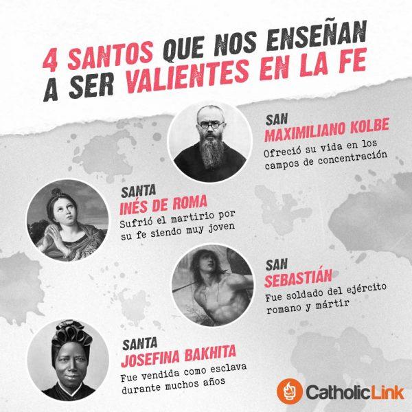 Infografía: 4 santos que nos enseñan a ser valientes