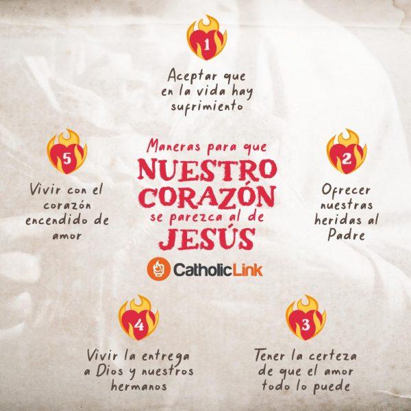 Infografía: Maneras de que nuestro corazón se parezca al de Jesús