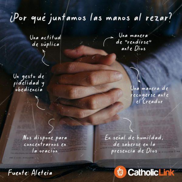 Infografía: ¿Por qué juntamos las manos al rezar?