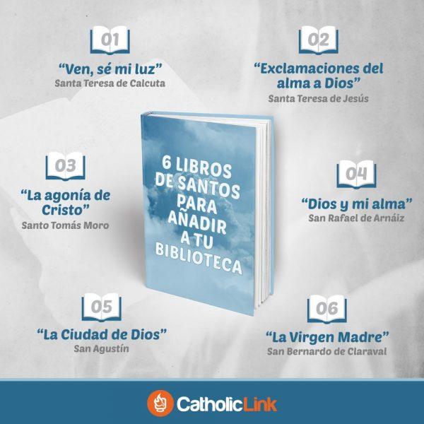 Infografía: 6 libros de santos para añadir a tu biblioteca