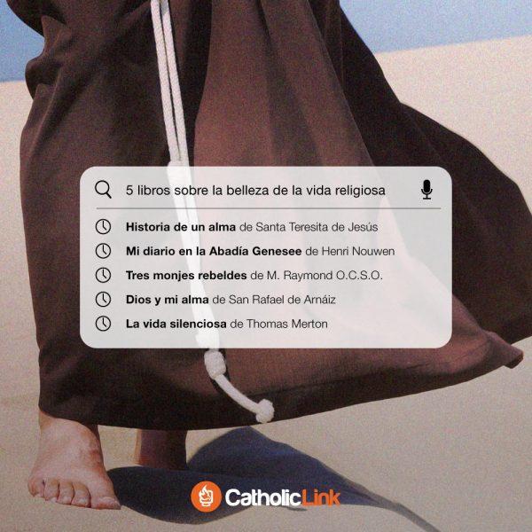 Infografía: 5 libros sobre la belleza de la vida religiosa