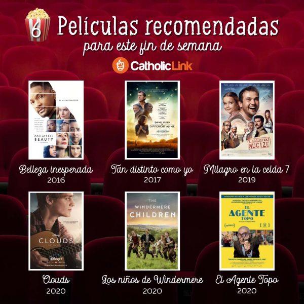 Infografía: Películas recomendadas para el fin de semana