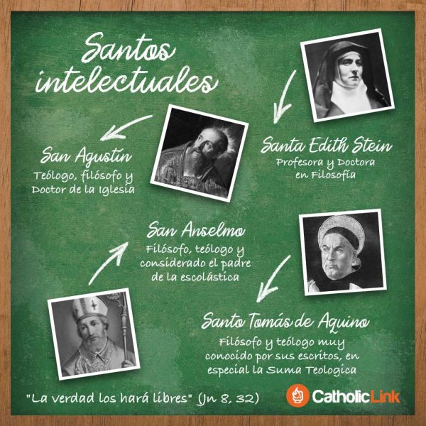 Infografía: 4 santos intelectuales