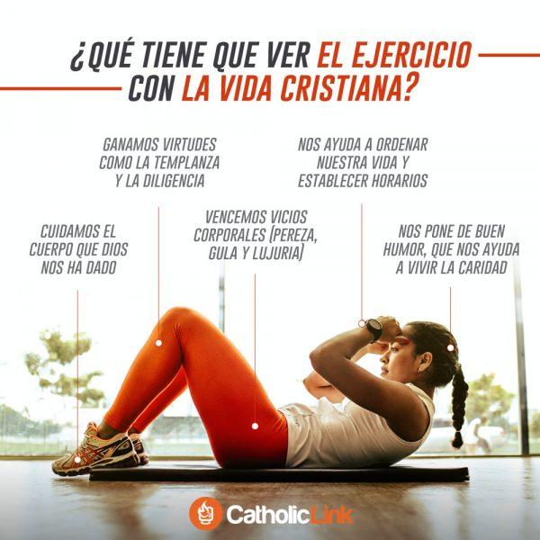 Infografía: ¿Qué tiene que ver el ejercicio con la vida cristiana?